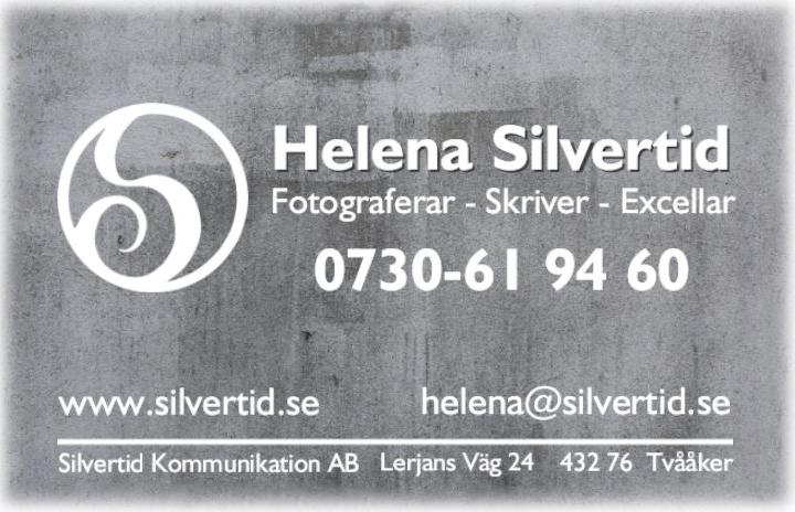 Visitkort Silvertid med kontaktuppgifter
