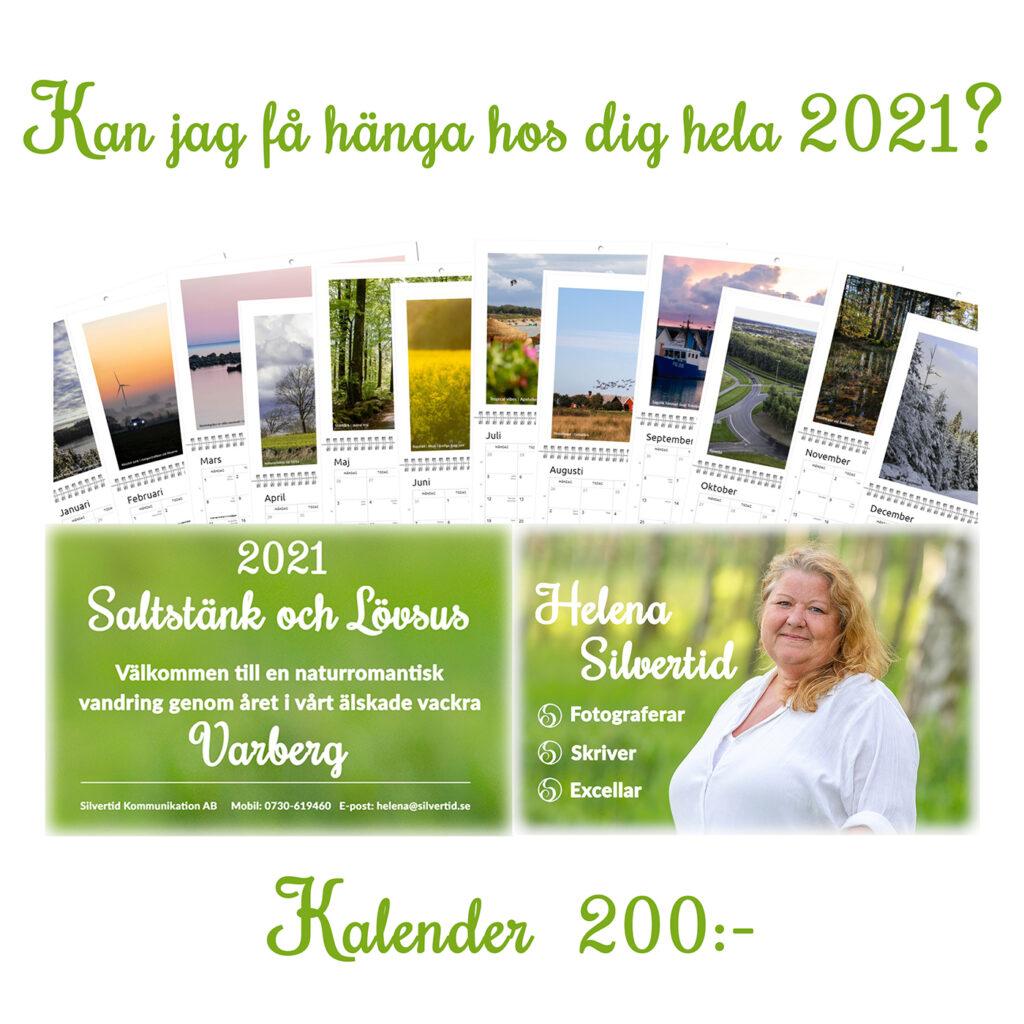 Saltstänk och Lövsus Fotoalmanacka 2021 av Helena Silvertid